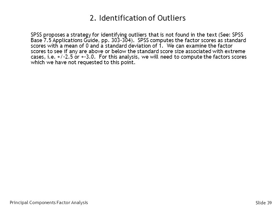 2. Identification of Outliers