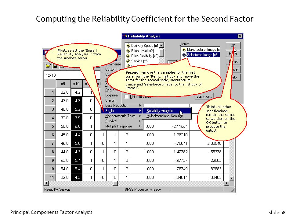 Computing the Reliability Coefficient for the Second Factor