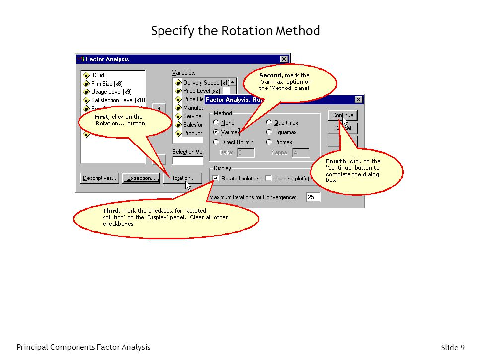 Specify the Rotation Method