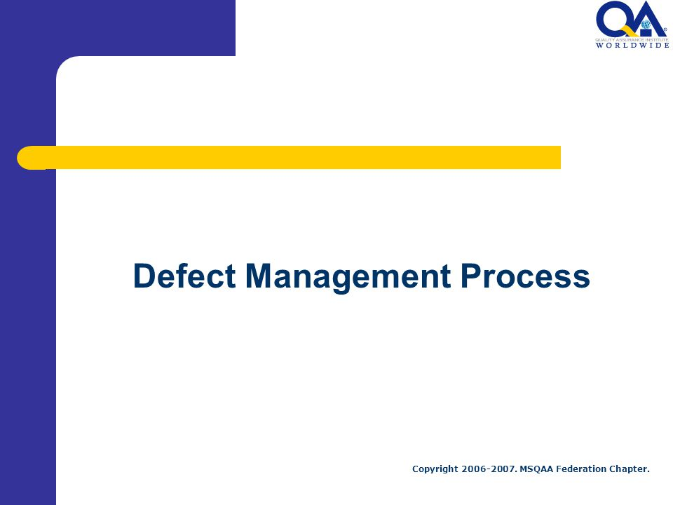 Defect Management Process
