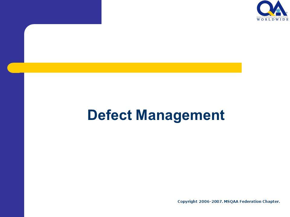 Defect Management