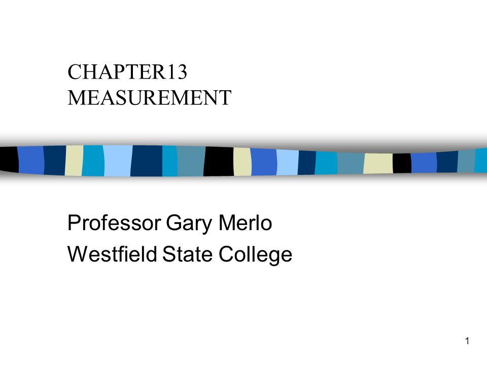 Professor Gary Merlo Westfield State College
