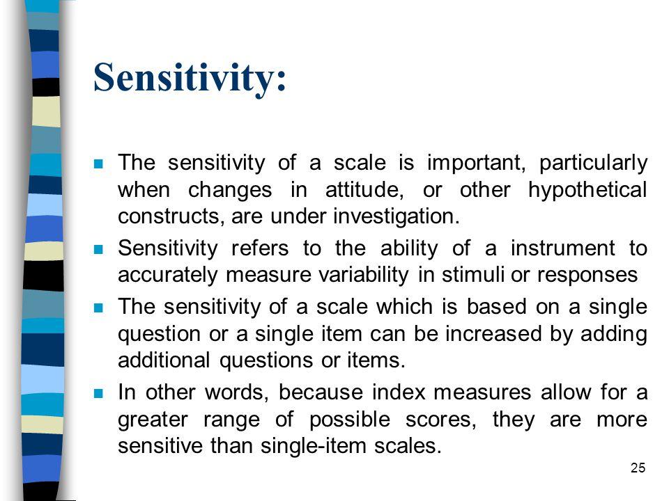 Sensitivity: