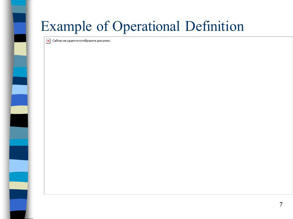 Example of Operational Definition
