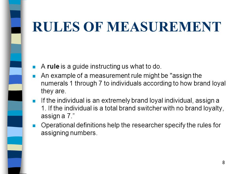 RULES OF MEASUREMENT A rule is a guide instructing us what to do.