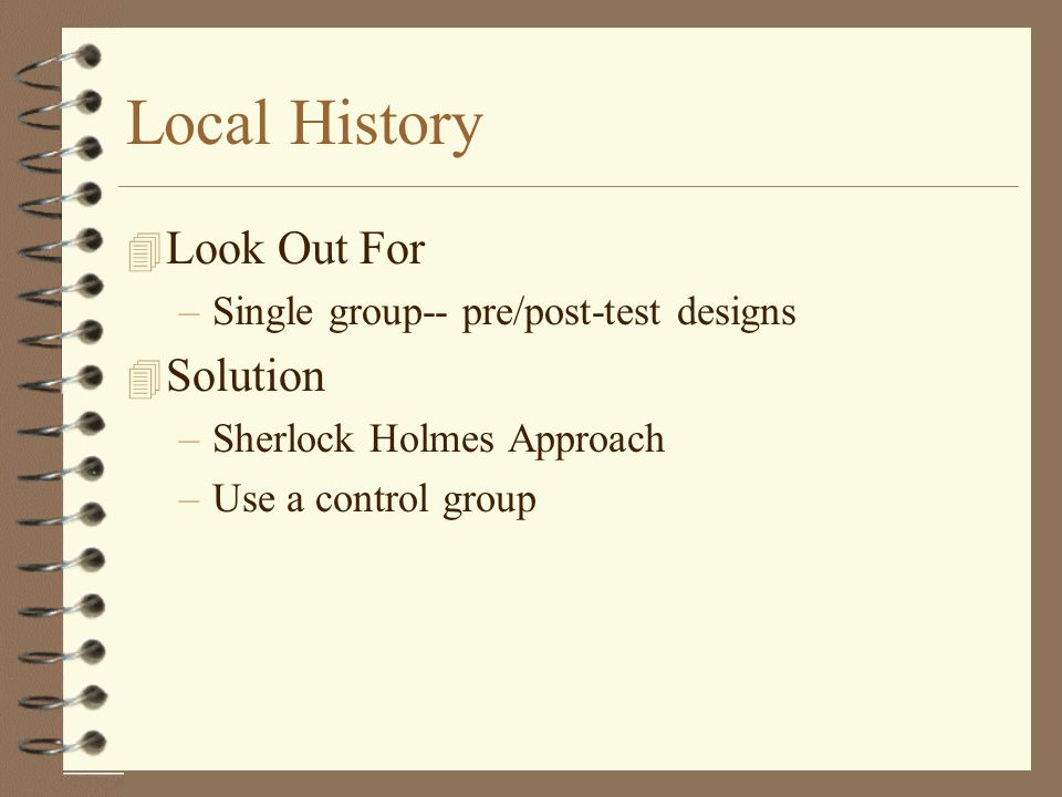 Local History Look Out For Solution