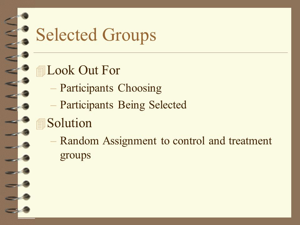 Selected Groups Look Out For Solution Participants Choosing