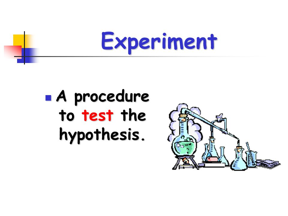 A procedure to test the hypothesis.