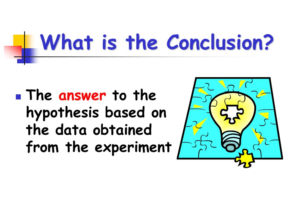 What is the Conclusion The answer to the hypothesis based on the data obtained from the experiment