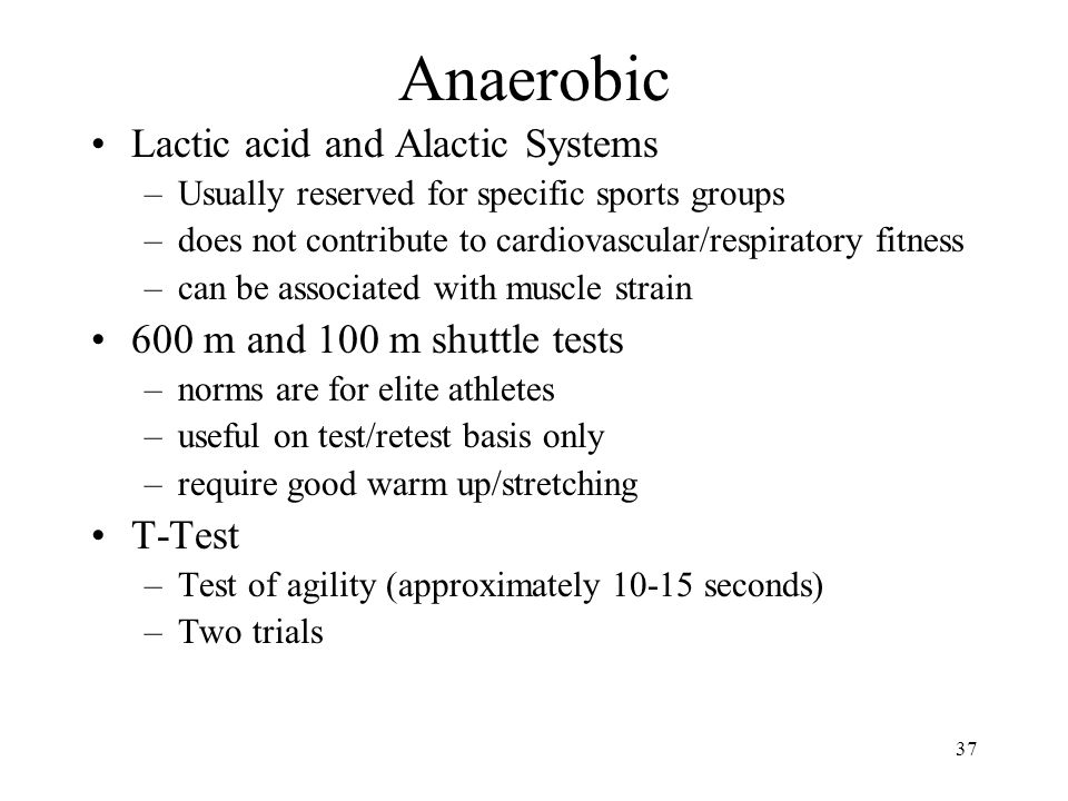 Anaerobic Lactic acid and Alactic Systems