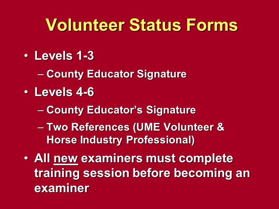 Volunteer Status Forms