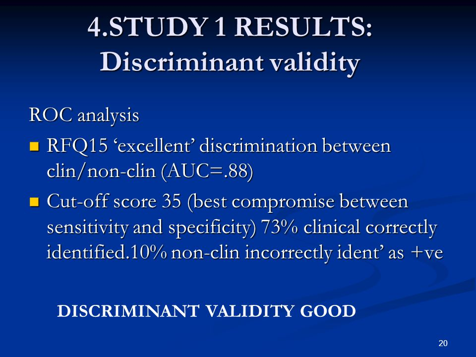 4.STUDY 1 RESULTS: Discriminant validity