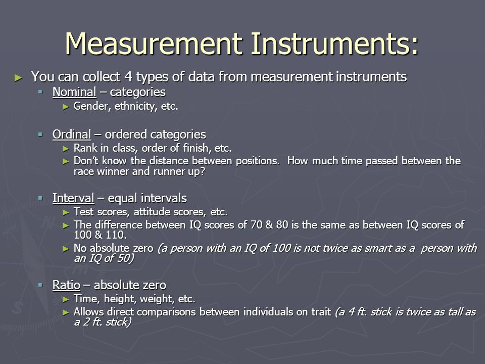 Measurement Instruments: