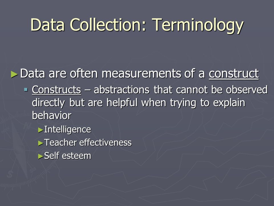 Data Collection: Terminology