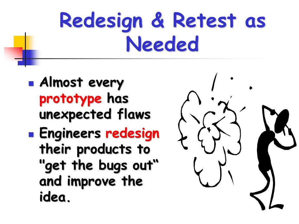 Redesign & Retest as Needed