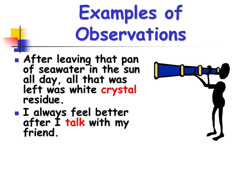 Examples of Observations
