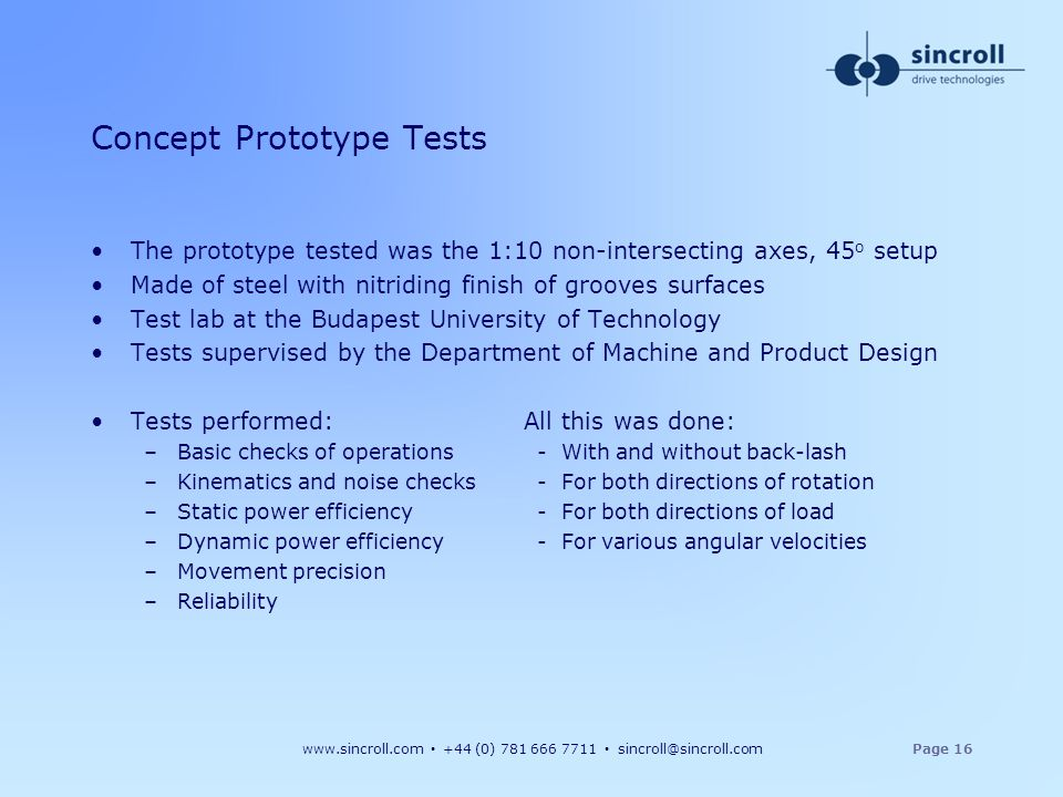Concept Prototype Tests