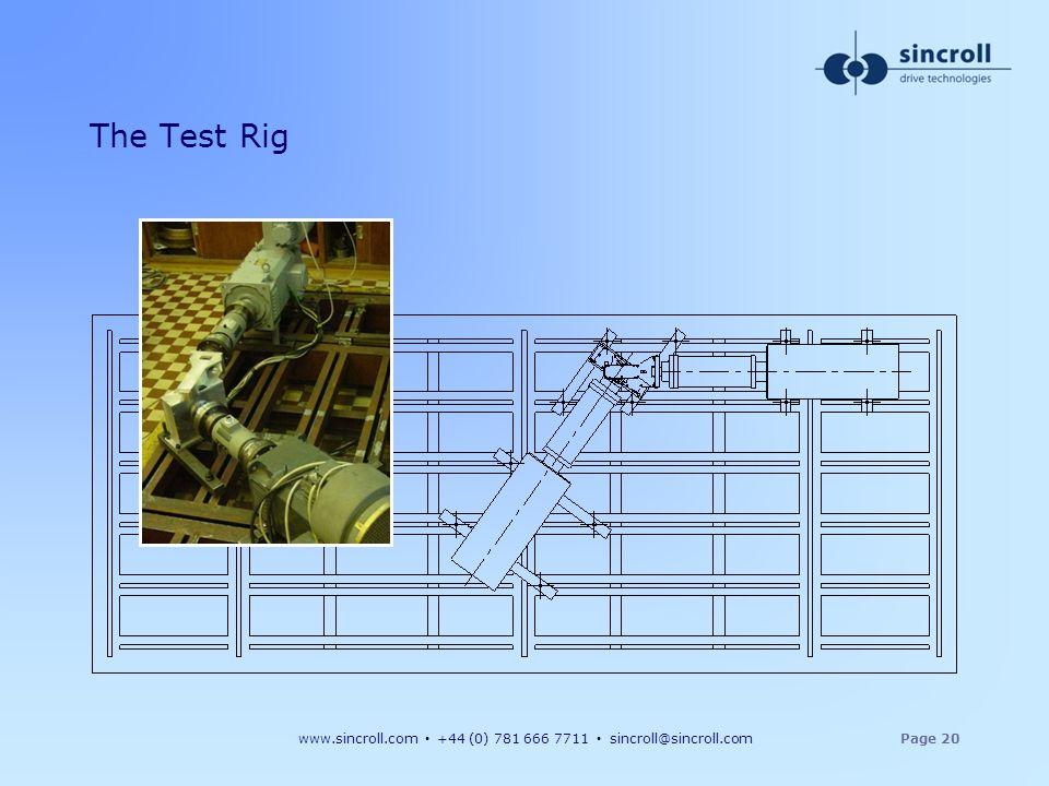 xxx The Test Rig xxx