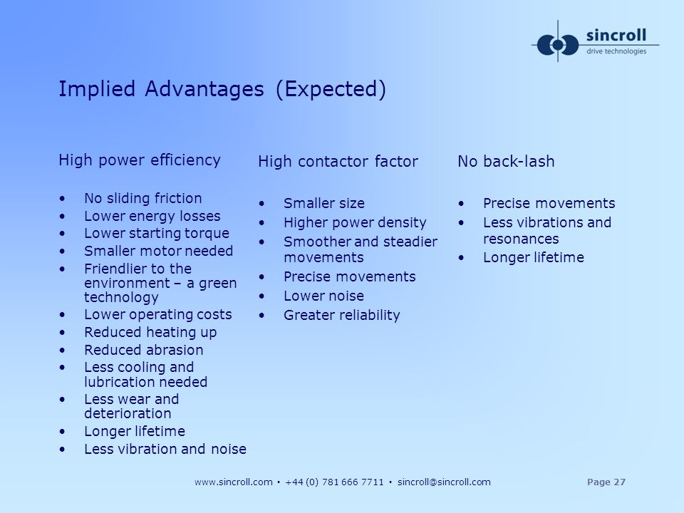 Implied Advantages (Expected)