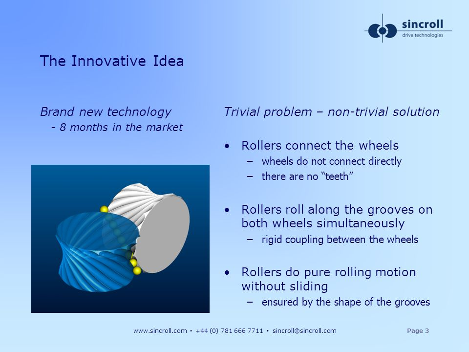 The Innovative Idea Brand new technology