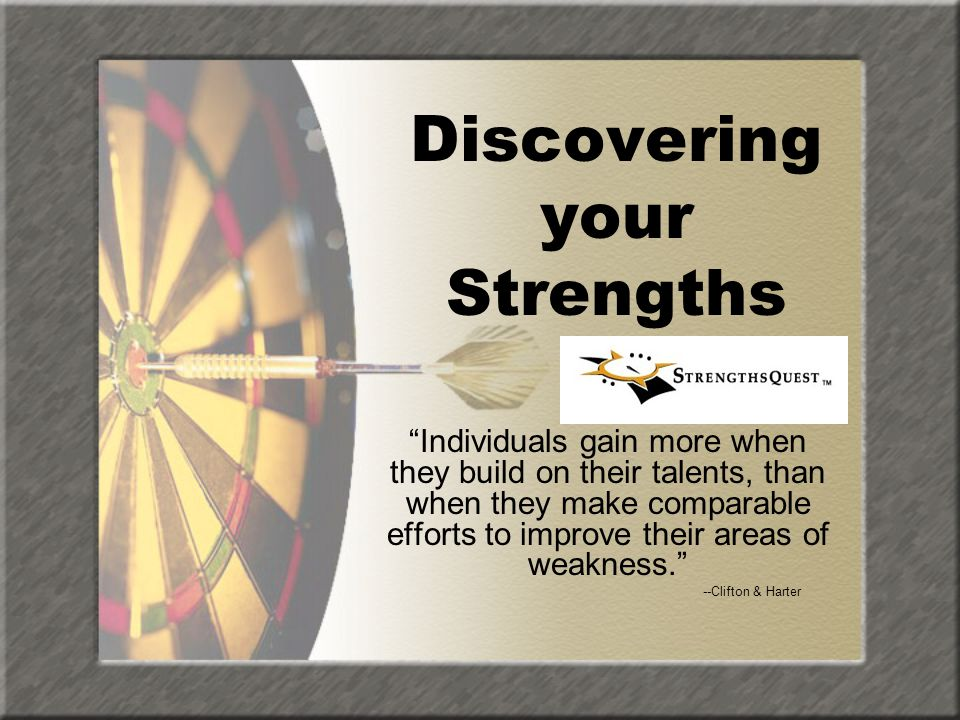 Discovering your Strengths