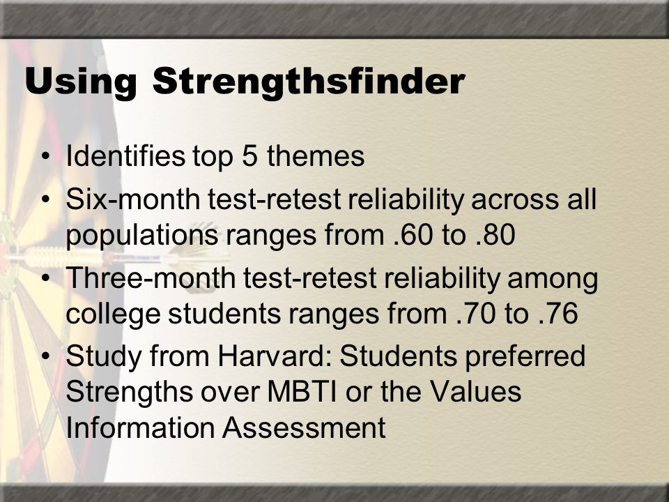 Using Strengthsfinder
