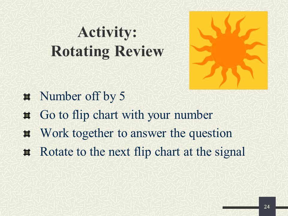 Activity: Rotating Review