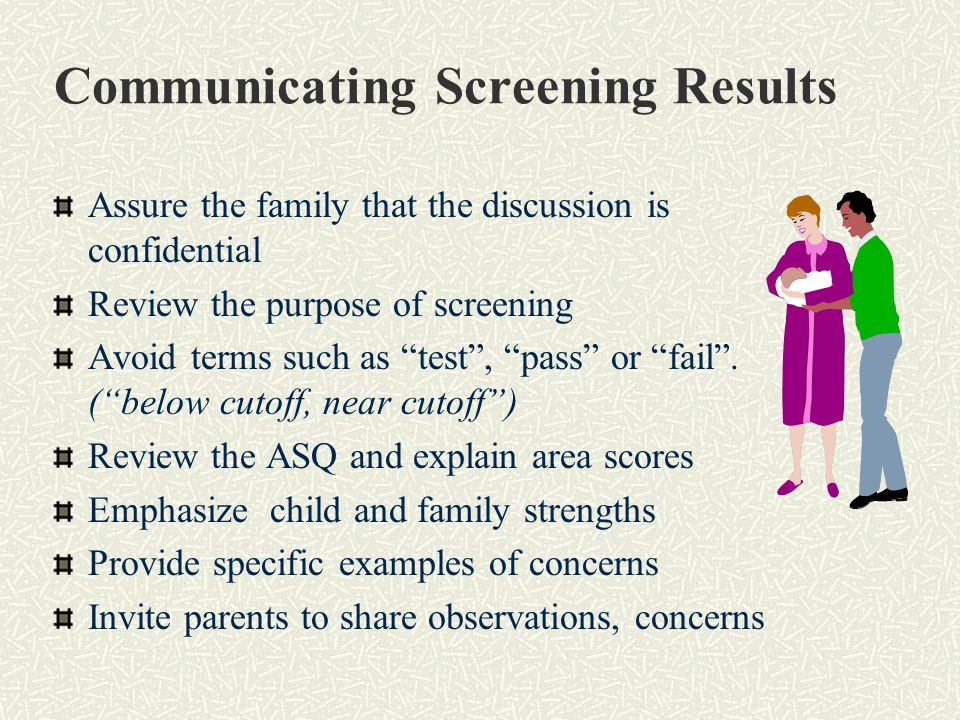 Communicating Screening Results