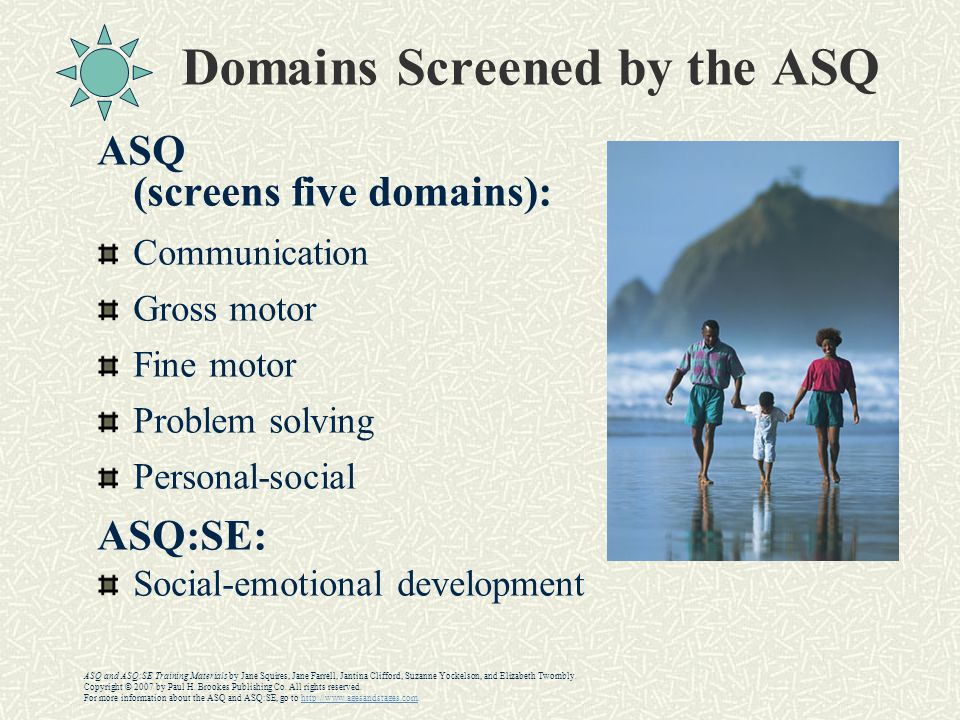 Domains Screened by the ASQ