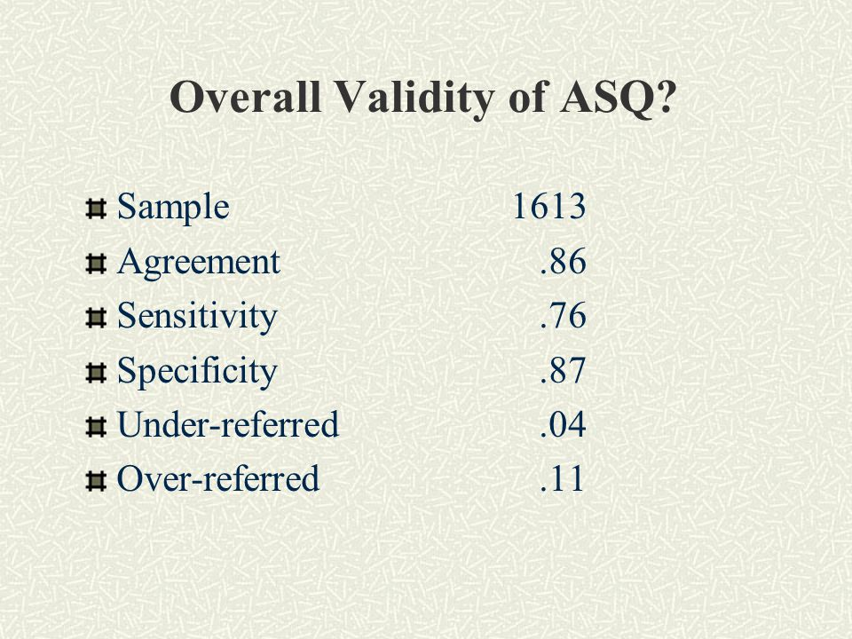 Overall Validity of ASQ