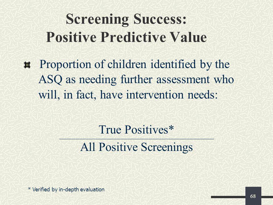 Screening Success: Positive Predictive Value