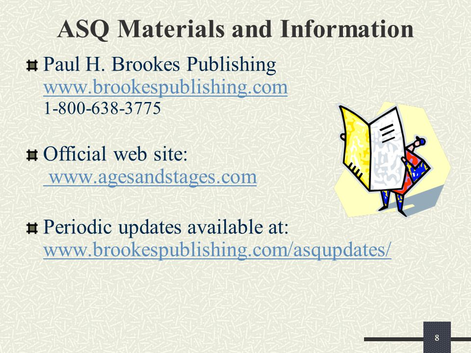 ASQ Materials and Information