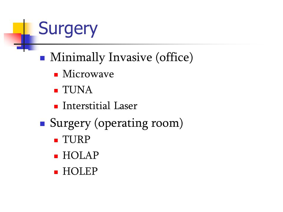 Surgery Minimally Invasive (office) Surgery (operating room) Microwave