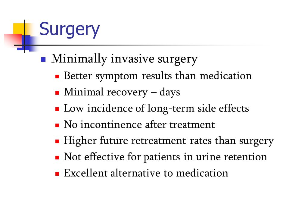 Surgery Minimally invasive surgery