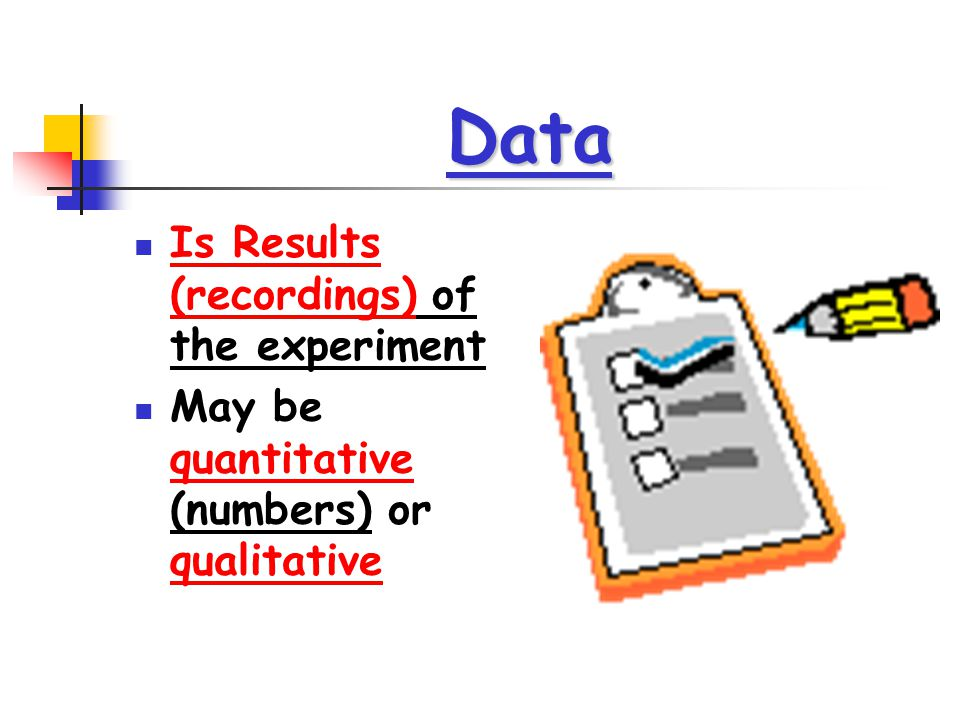 Data Is Results (recordings) of the experiment