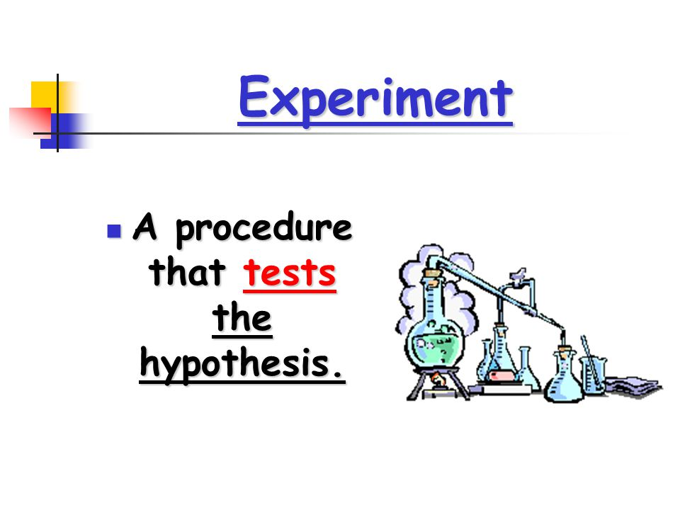 A procedure that tests the hypothesis.