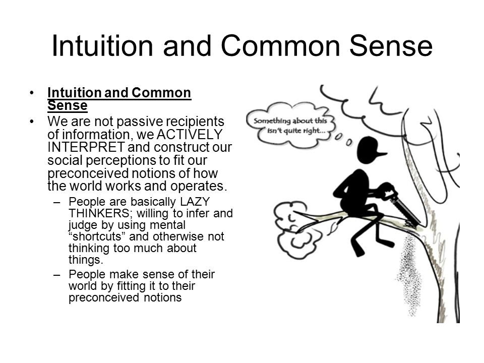 Intuition and Common Sense