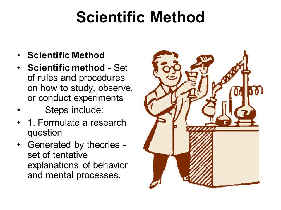 Scientific Method Scientific Method