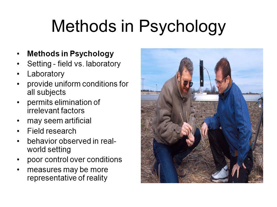 Methods in Psychology Methods in Psychology