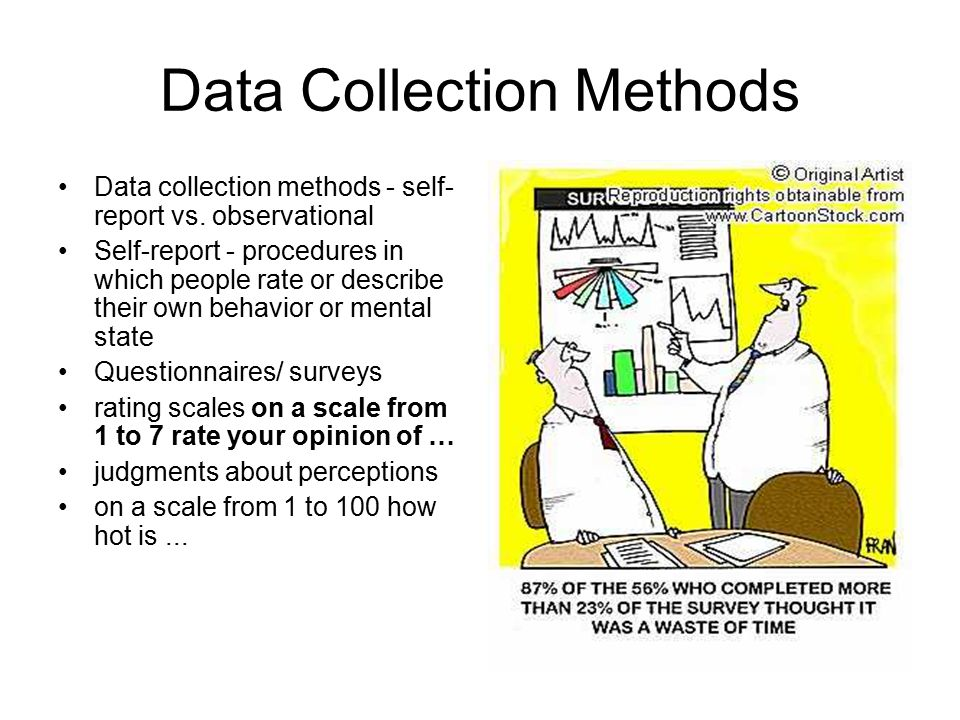 collecting self report data Explore four methods for collecting qualitative research  collecting good data takes  among the many sources of data in qualitative research are self-reports of.