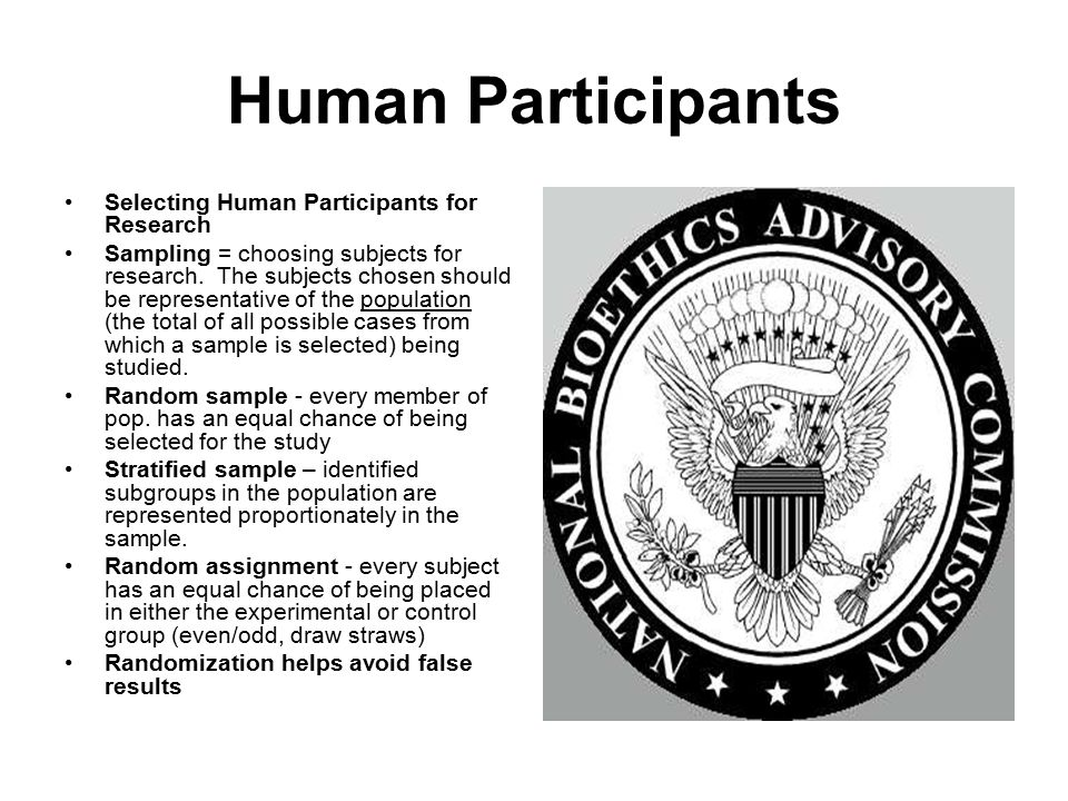 Human Participants Selecting Human Participants for Research