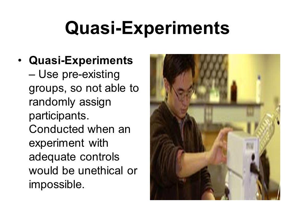 Quasi-Experiments