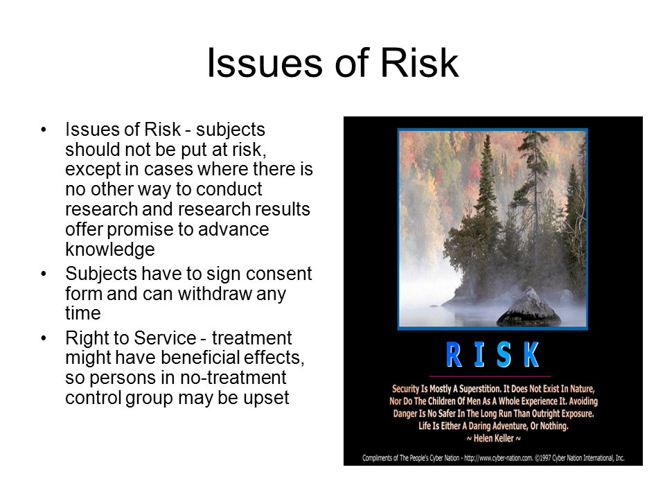 Issues of Risk