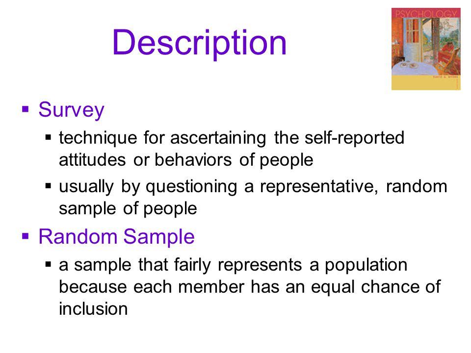 Description Survey Random Sample