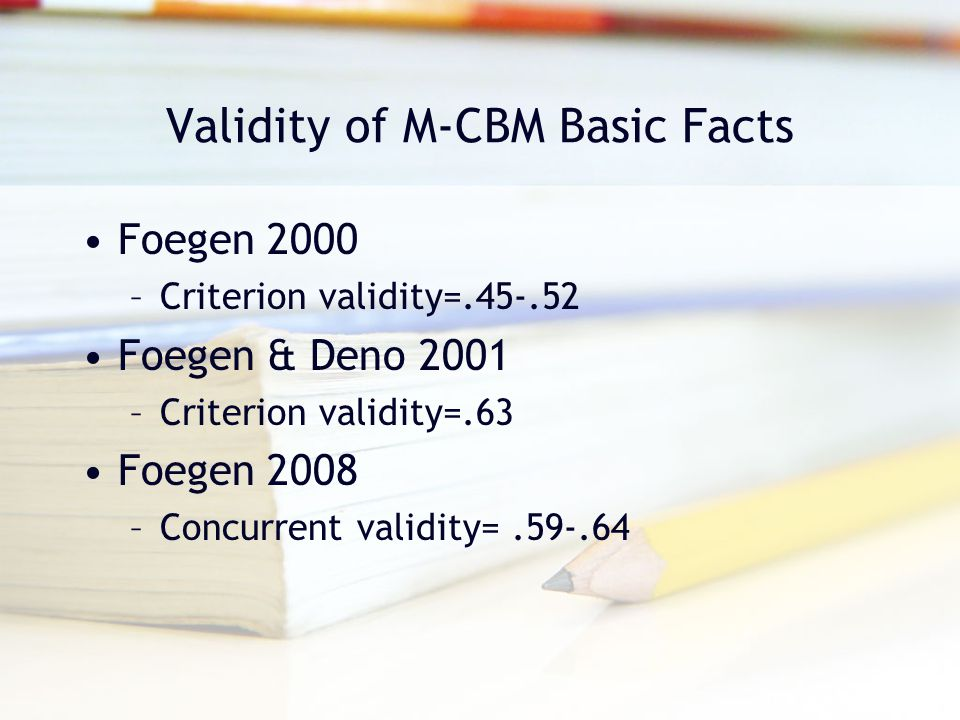 Validity of M-CBM Basic Facts