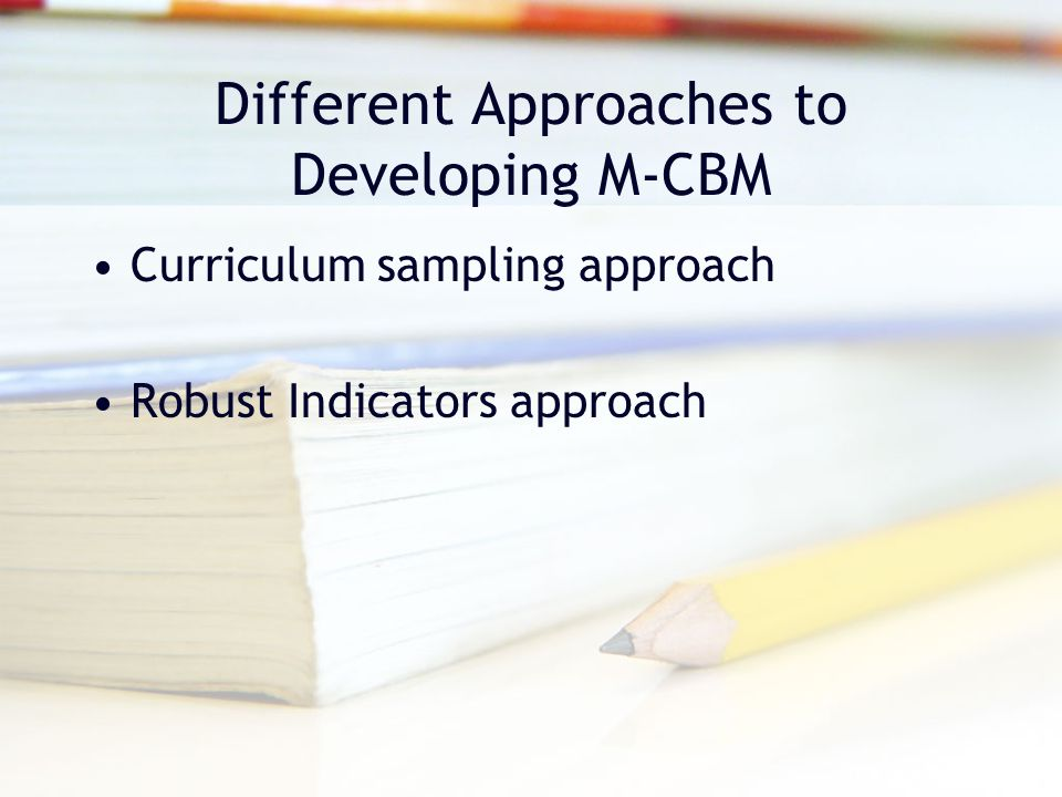 Different Approaches to Developing M-CBM