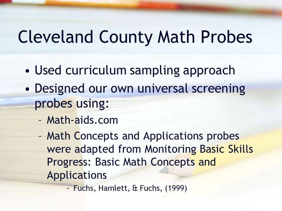 Cleveland County Math Probes
