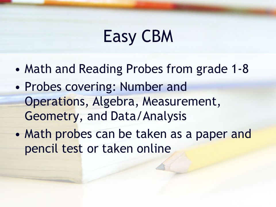 Easy CBM Math and Reading Probes from grade 1-8