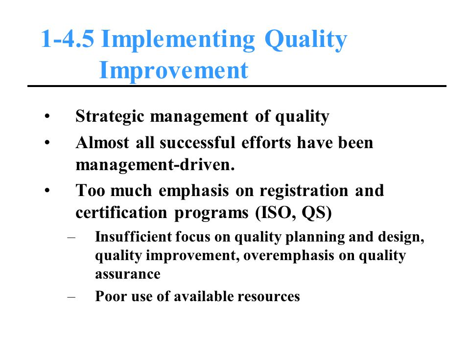 1-4.5 Implementing Quality Improvement