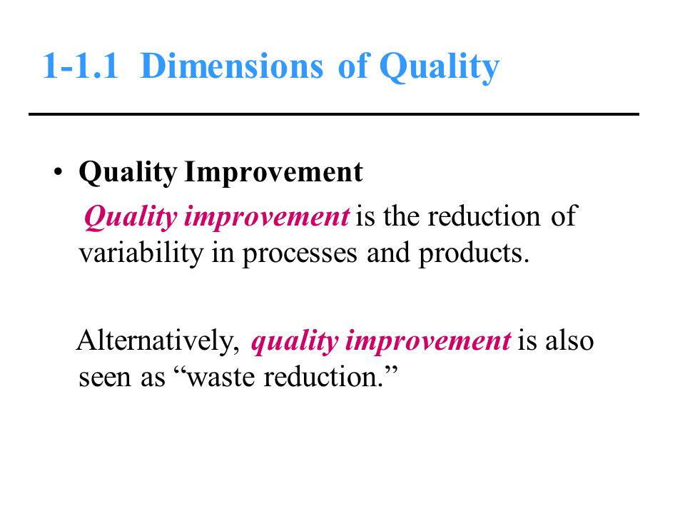 1-1.1 Dimensions of Quality